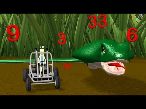 Three Times Table Video with Mr. Snake - Multiplication Math Videos for Kids