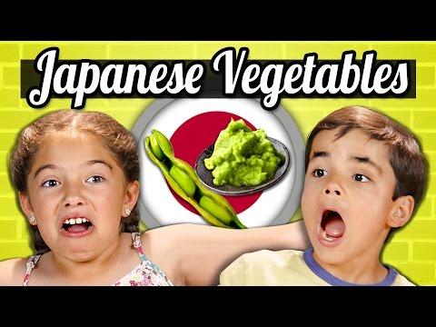 KIDS EAT JAPANESE VEGETABLES!   Kids Vs. Food