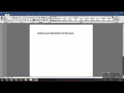 Show Ruler Microsoft Office Word 2016