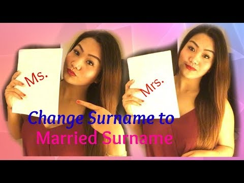 CFO | Change Surname to Married Surname