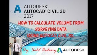 HOW TO CALCULATE VOLUME FROM SURVEYING DATA USING AUTOCAD CIVIL 3D