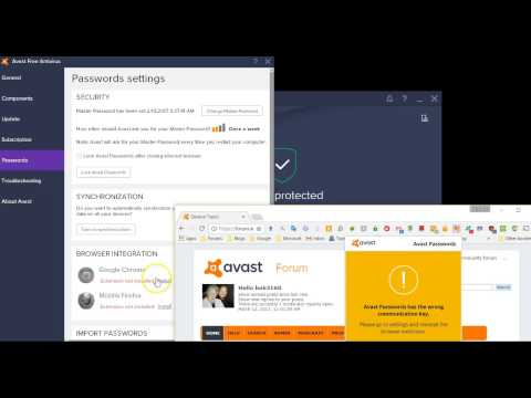 Re-Activating the Avast Password Manager