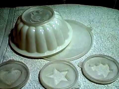 Tupperware 6 Piece Jello Gelatin Mold Used Vintage