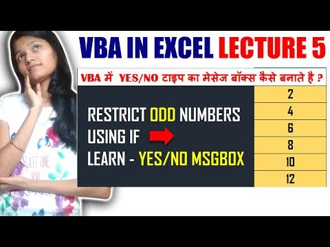 How to Use Yes/No Type Message Box in VBA Excel? | Response Message Box in VBA