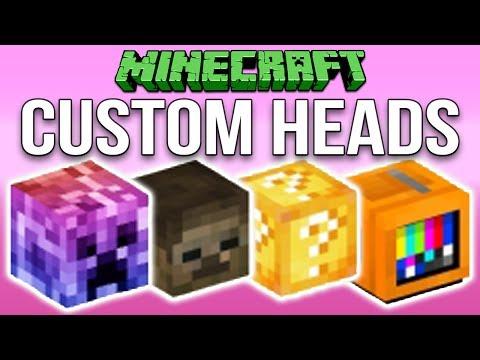 Minecraft 1.12: How To Make Custom Heads Tutorial