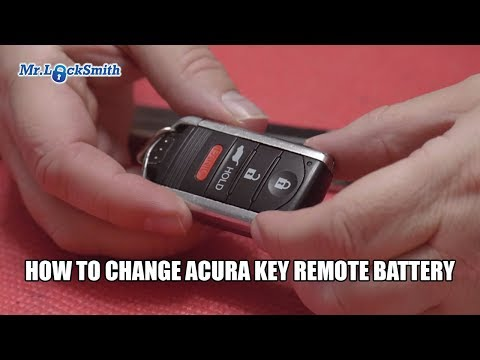 How to change Acura Remote Prox Battery | Mr. Locksmith Video