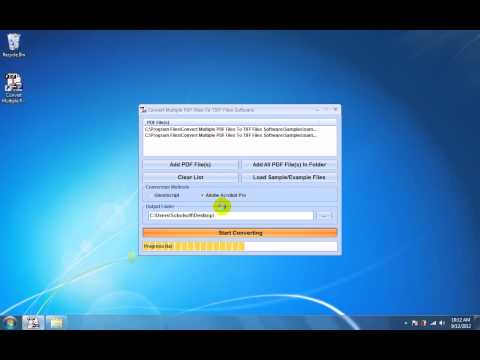 How To Use Convert Multiple PDF Files To TIFF Files Software