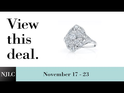 Deal of the Week: Platinum Diamond Ring