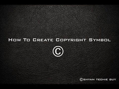 How To Create Copyright Symbol In Photoshop