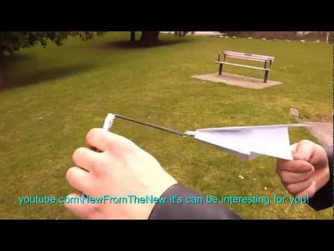 how to launch a paper plane using rubber band