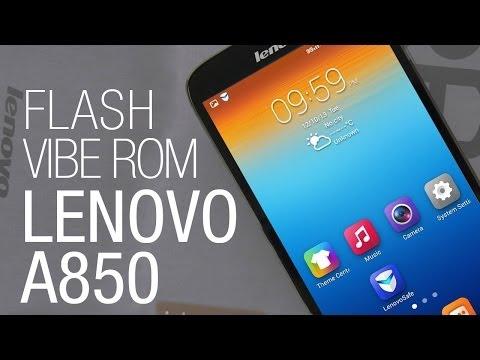Lenovo A850 - Flash the custom VIBE ROM from recovery
