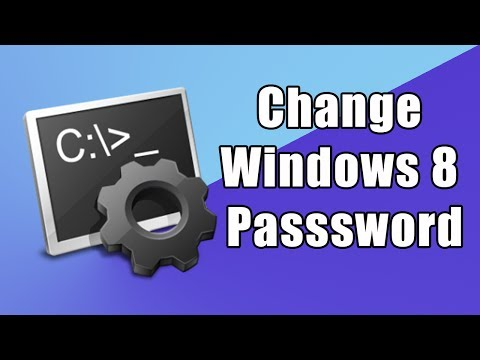 How To Change/Reset Your Password In Windows 8 With Cmd