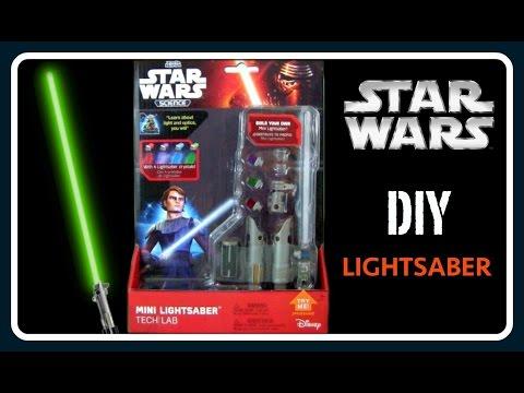 STAR WARS Mini Lightsaber Tech Lab!  DIY STAR WARS Lightsaber!  Make Light Saber That Lights Up