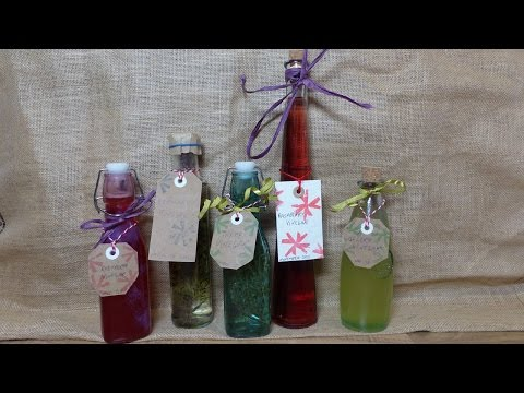 How to Preserve Herbs, Vegetables and Fruit in Vinegars as Holiday Gifts