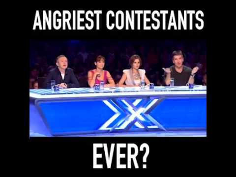Angriest contestan EVER in X-factor funny