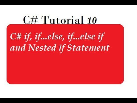 IF Else Statements in C#