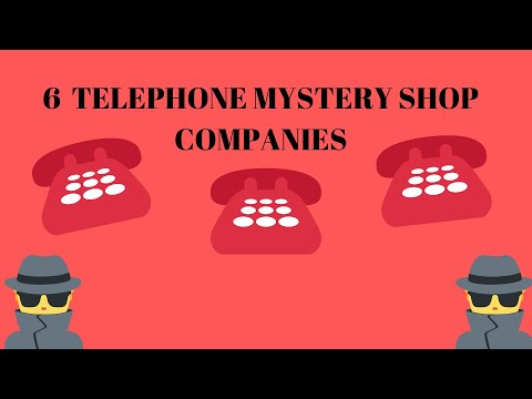 6 TELEPHONE MYSTERY SHOP COMPANIES