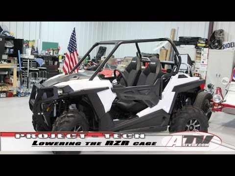 ATV Television - Lowering the 2015 Polaris RZR 900 Roll Cage