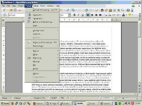 OpenOffice: tekstin liittäminen, tyylin lisääminen
