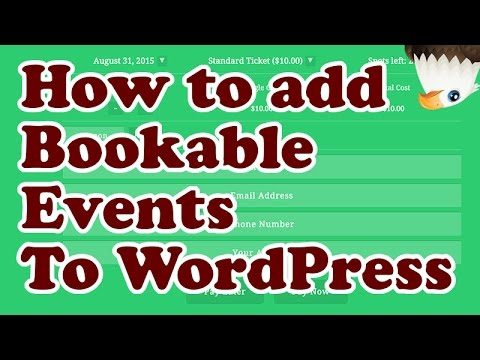 How to add event booking and registration to WordPress