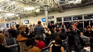 ქართველები კიევის აეროპორტში