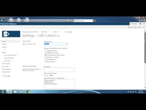 SharePoint 2013: How to modify an existing column