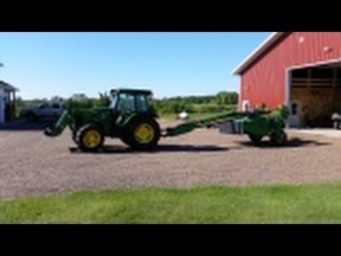 John Deere 625 MoCo Cutting Hay & 5083E Tractor