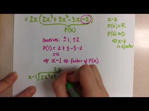 Factoring Polynomials using Factor Theorem