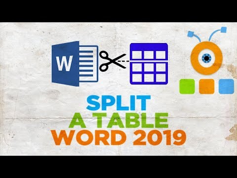 How to Split a Table in Word 2019
