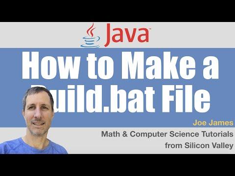 Java: Build Project Using a Windows Batch File