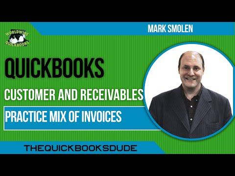 Learn QuickBooks Video 17 - Mix Customer Transaction Set