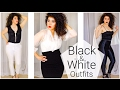 Black and White Outfits   Black and White Fashion