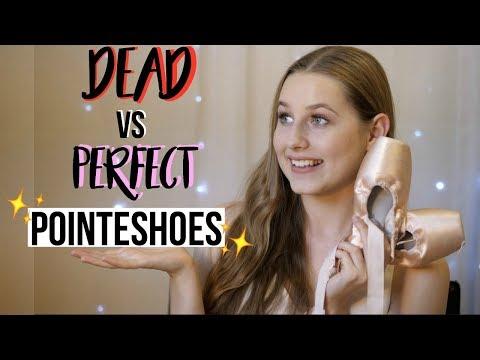Dead VS Perfect Pointeshoes & How to make them last longer | Talia