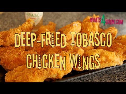 Deep Fried Tabasco Chicken Wings. Crispy Deep Fried Chicken Wings Infused with Tabasco.