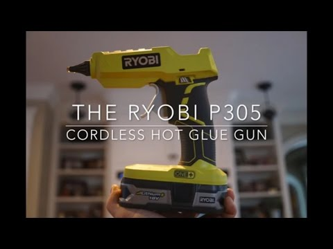 Ryobi P305 18v Cordless Hot Glue Glun - Field Test & Review