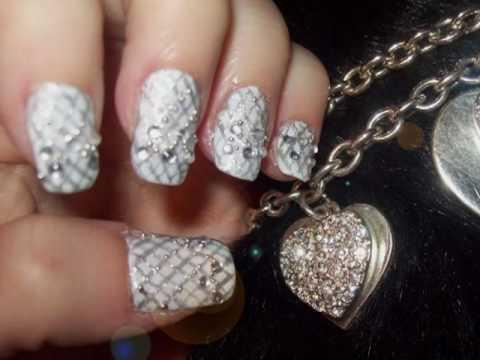 Bad Romance - Lady Gaga inspired nail design