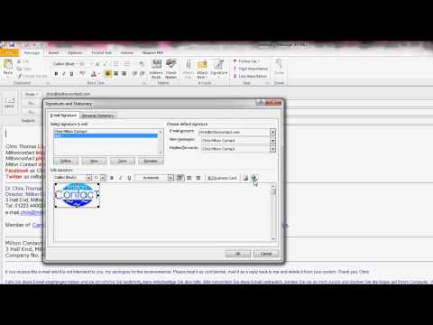 Creating a logo, icon or picture link in your Outlook 2010 e-mail signature