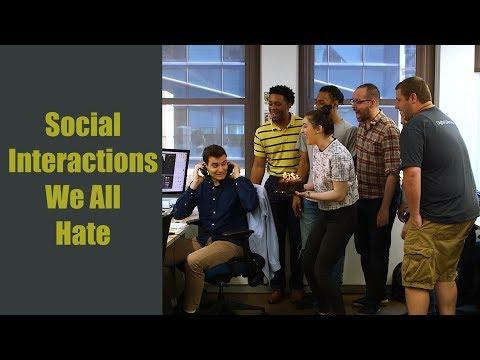 Awkward social interactions: Elevators, handshakes, and conversations