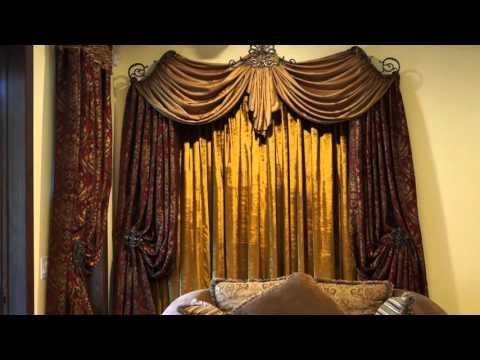 Custom Curtains: Custom Drapery Ideas for a Spanish Hacienda  | Galaxy-Design Video #125