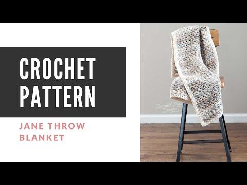 Jane Throw Crochet Blanket Pattern