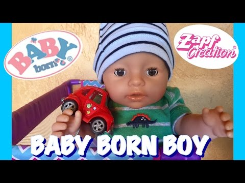 Baby Born BOY by Zapf Creations FEEDING CHANGING and PLAYTIME