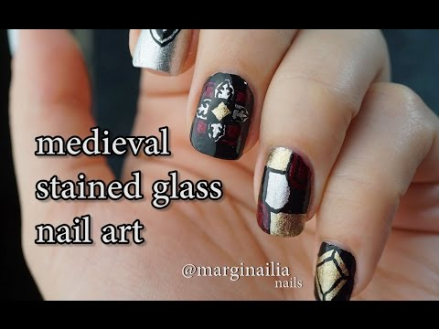 Medieval Stained Glass nail art tutorial