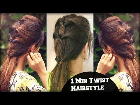 1 MIN Everyday Quick & Easy Twist Ponytail Hairstyle For School, College, Work/ Kriti Sanon Inspired