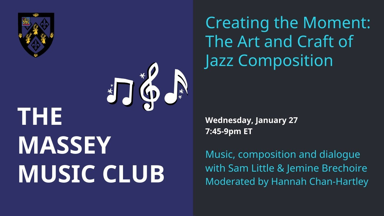 Music Club: Creating the Moment, the art and craft of jazz composition