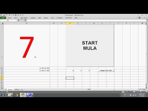 Excel VBA: Create a Stop Watch using Excel VBA
