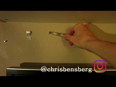 How To Find A Stud Without A Stud Finder  - Magnet Trick