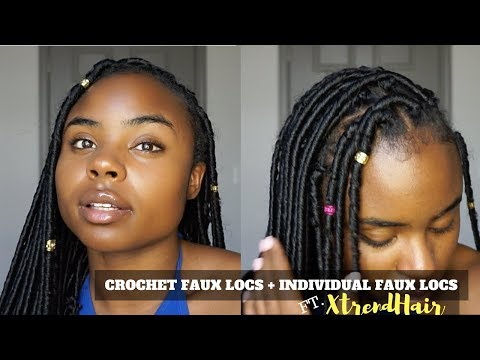 HOW TO DO CROCHET FAUX LOCS + INDIVIDUAL FAUX LOCS   FT. XTRENDHAIR