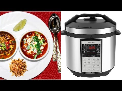 Cosori Instant Pot Easy Chili Black Bean Enchilada Soup Video Recipe | Bhavna's Kitchen