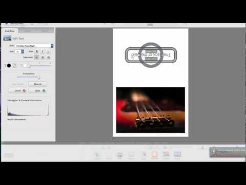 Picasa  HP Horizontal Image - Photo note card setup and printing Mac HP printer