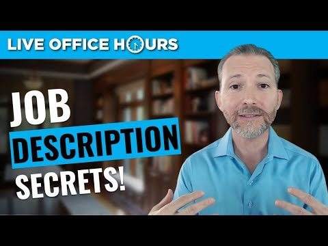 How to Use Job Descriptions to Ace Your Interview: Live Office Hours: Andrew LaCivita